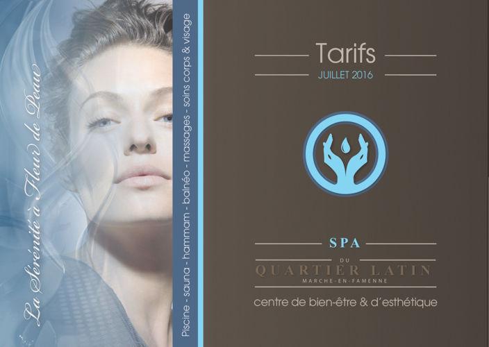 Quartier Latin SPA TARIF 2016 - FR