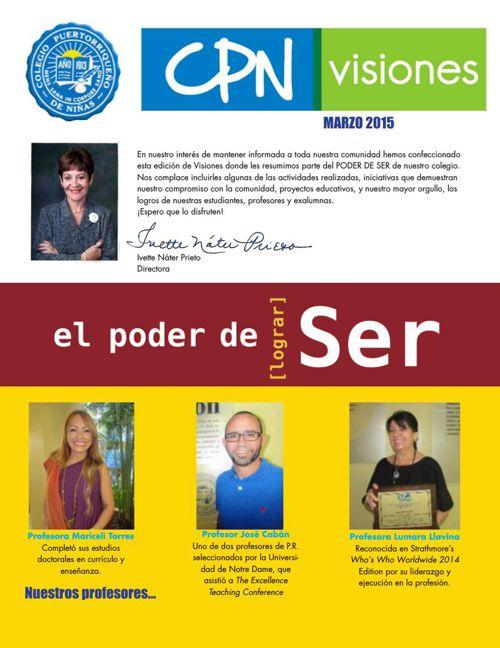 CPN Visiones - Marzo 2015
