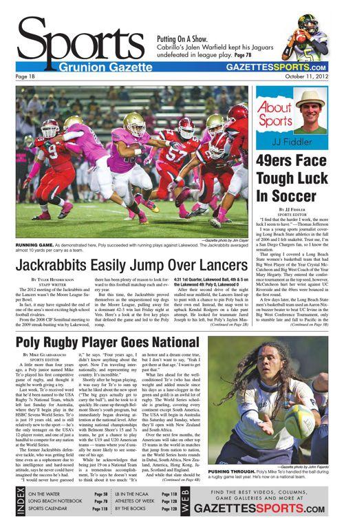 Gazette Sports | October 11, 2012