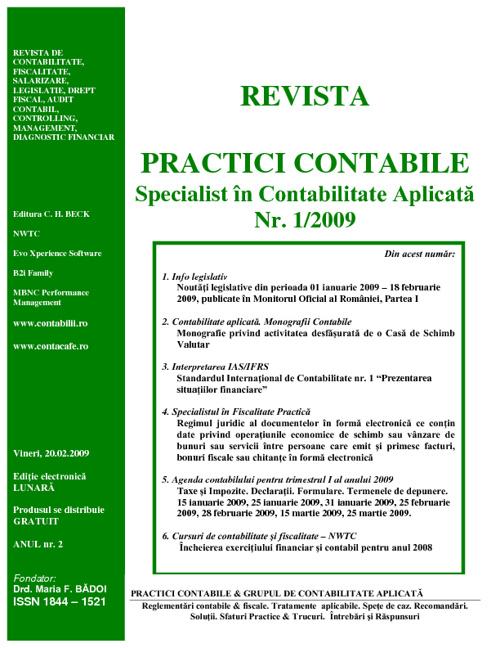 Revista Practici Contabile Nr. 1/2009