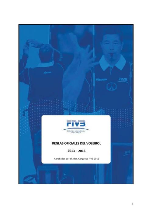 Reglas Oficiales de Voleibol 2013 - 2016 - FIVB