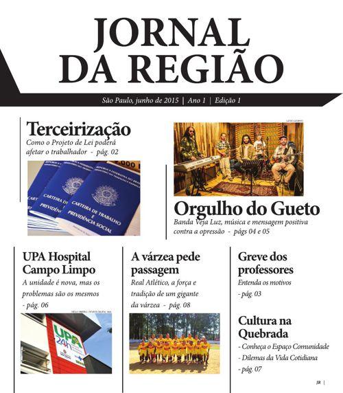 Jornal da Região - Ed. 01 - Junho de 2015