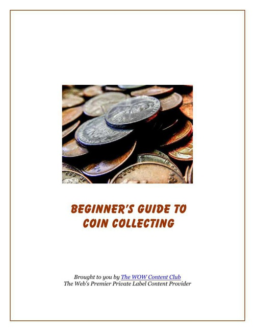 Coin Collecting Beginners Guide
