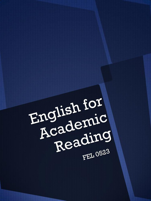 English For Academic Reading FEL 0523
