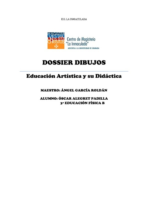 DOSIER DE DIBUJOS