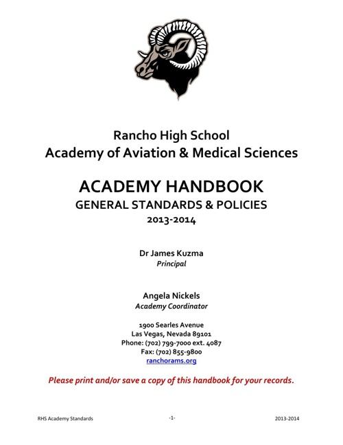 RHS Academy Handbook