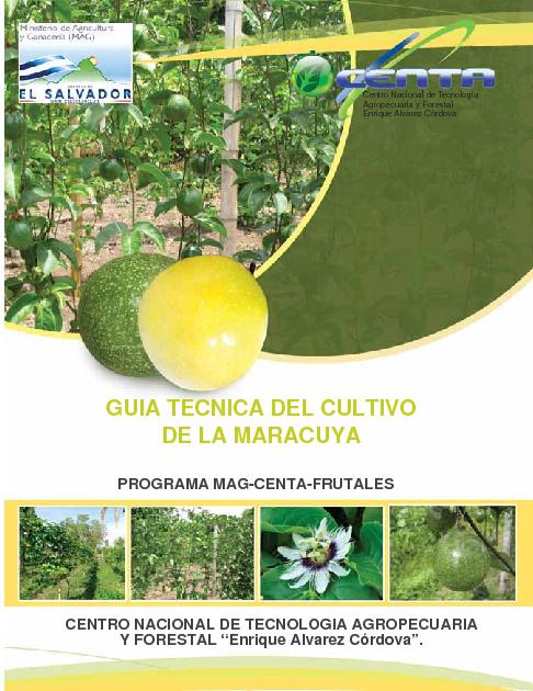 Guía Tecnica del Cultivo de Maracuyá