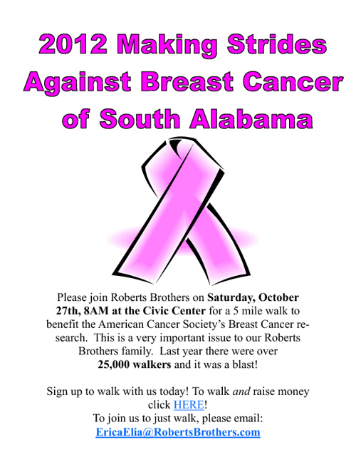 Breast Cancer Walk flyer