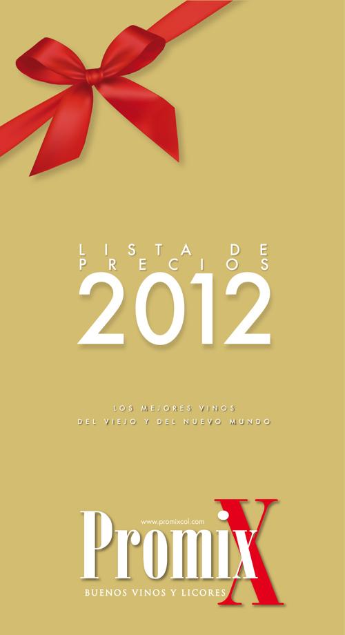 PROMIX Lista de Precios 2012 Buenos Vinos y Licores