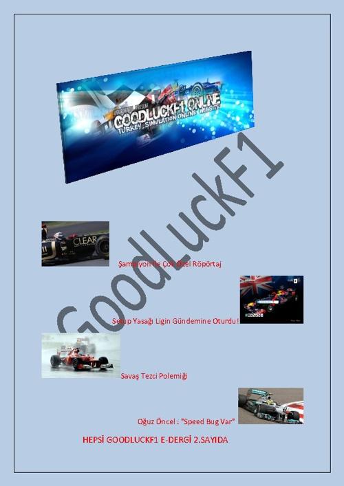 GoodLuckF1 E-DERGİ 2.Sayı