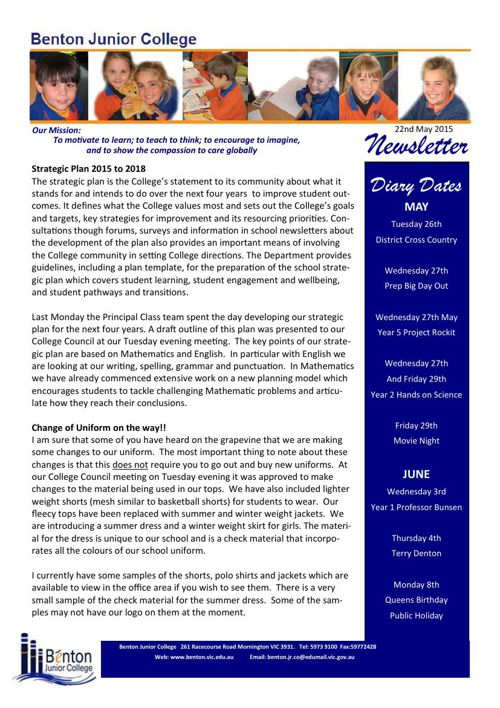 BJC Newsletter May 2015