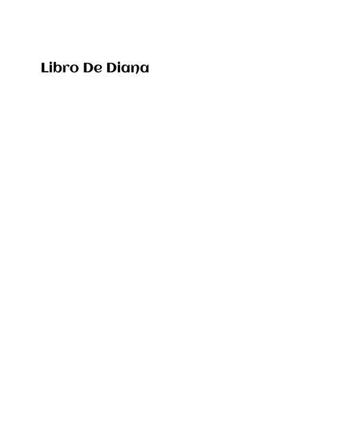 Libro de Diana