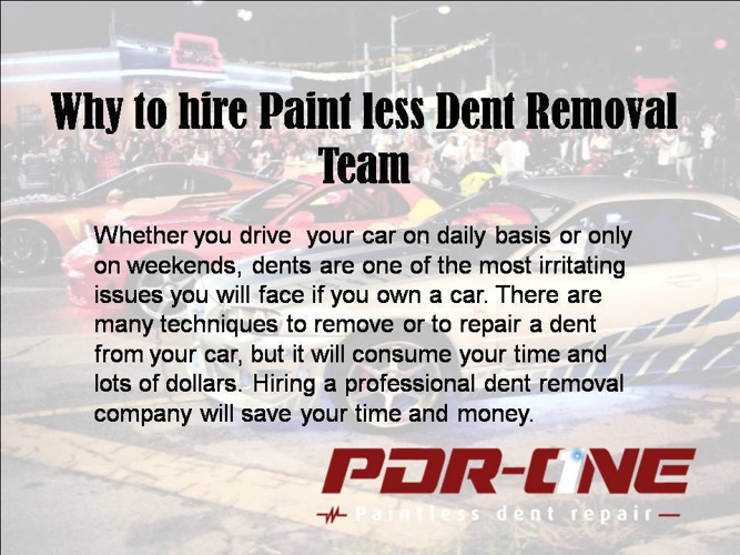 Paintless dent repair Riverside CA
