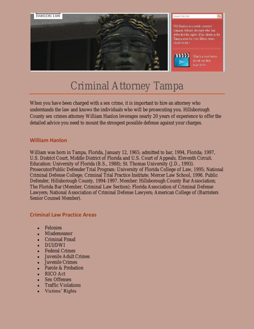 Criminal Attorney Tampa