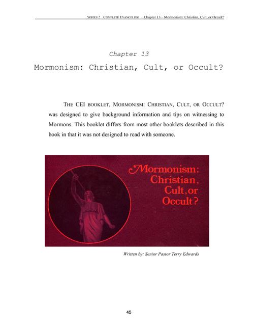 Mormonism: Christian, Cult or Occult?