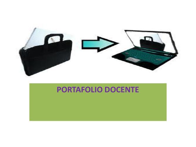 PORTAFOLIO DOCENTE DE PROYECCIÓN PROFESIONAL