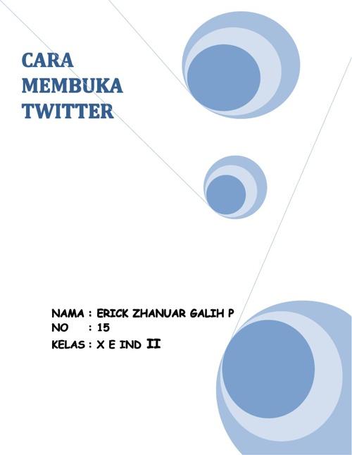 CARA MEMBUKA TWITTER
