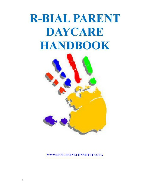 R-BIAL Daycare Parent Handbook