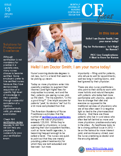 NHI January 2012 Newsletter