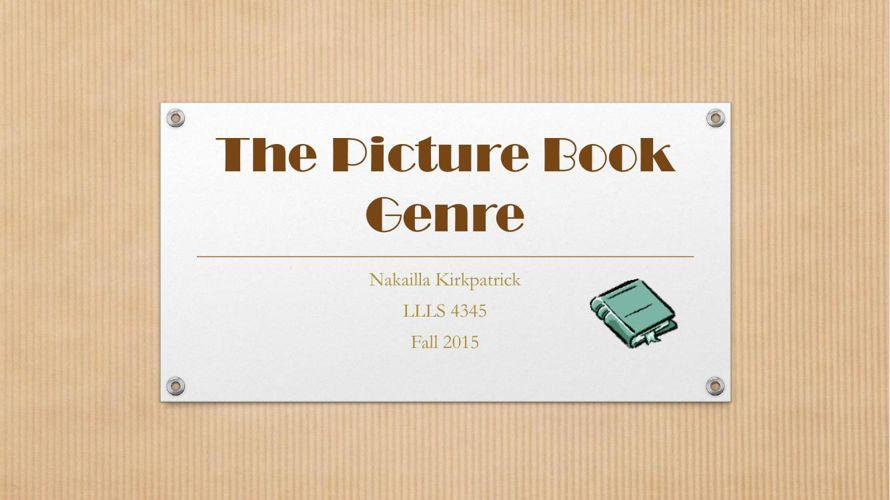 The Picture Book Genre Flip Book