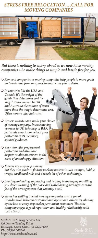 STRESS FREE RELOCATION CALL FOR MOVING COMPANIES
