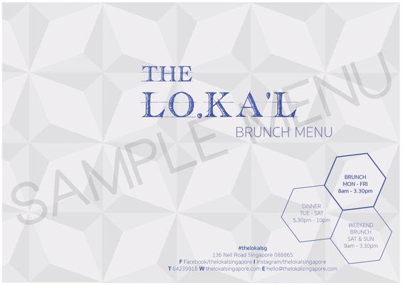 The LoKal menu - Brunch, Dinner & Weekend Brunch