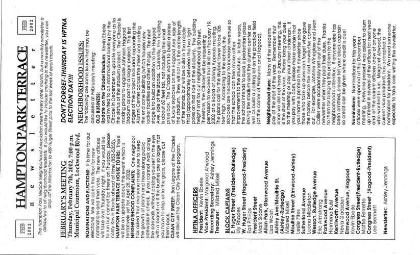 HPT Newsletter February-1 2002