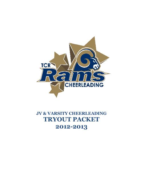 Rams Cheerleading 2012-2013