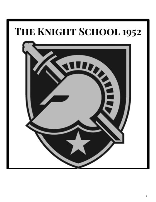 KnightHighSchoolYearbook-1952