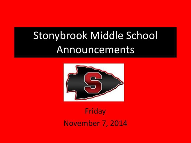 Stonybrook Announcements 2014testing