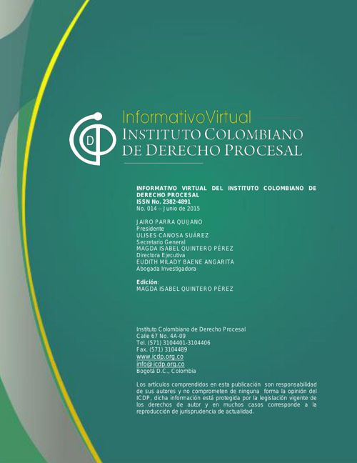 Informativo ICDP No. 014