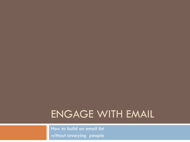 Engage with Email