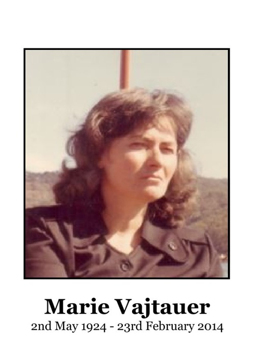 Small Order of Service for Marie Vajtauer