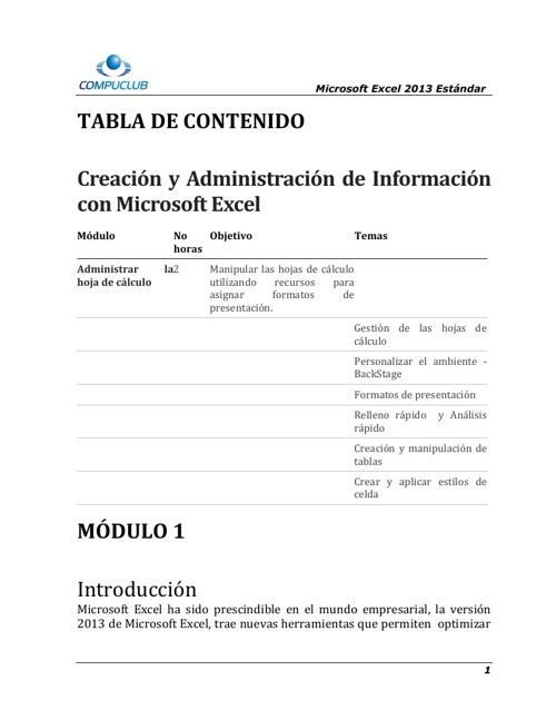 Creación de Bases de Datos y Administración de información