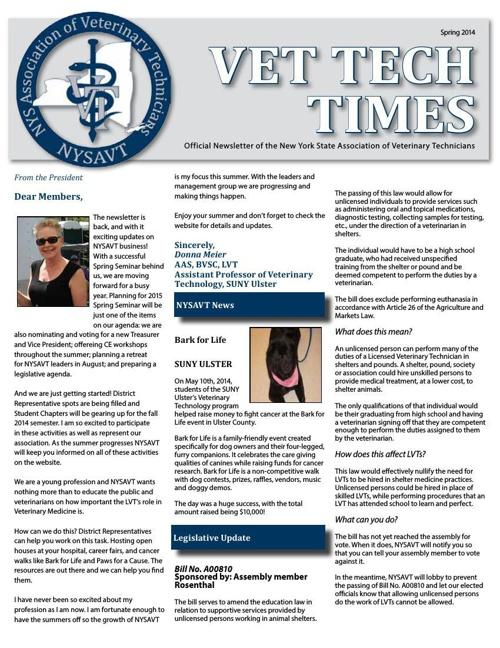 VTT 2014 - Spring Newsletter