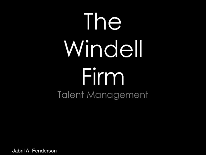 Copy of Copy of The Windell Firm