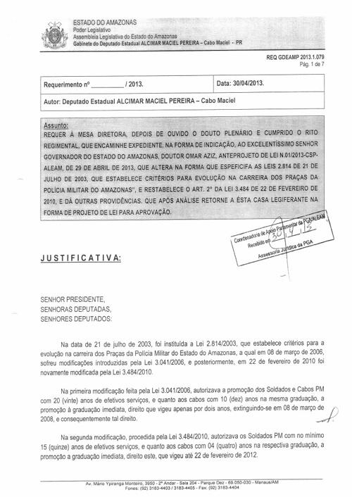 ANTEPROJETO DE LEI DA POLÍCIA MILITAR