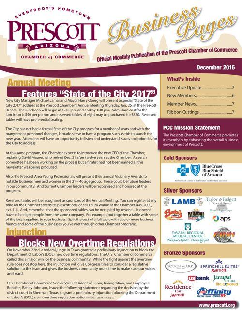 Prescott Chamber Newsletter 12-16