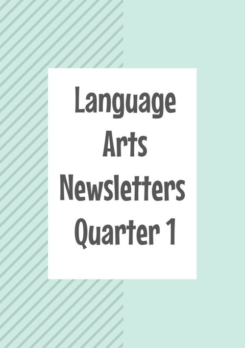Language Arts Newsletters