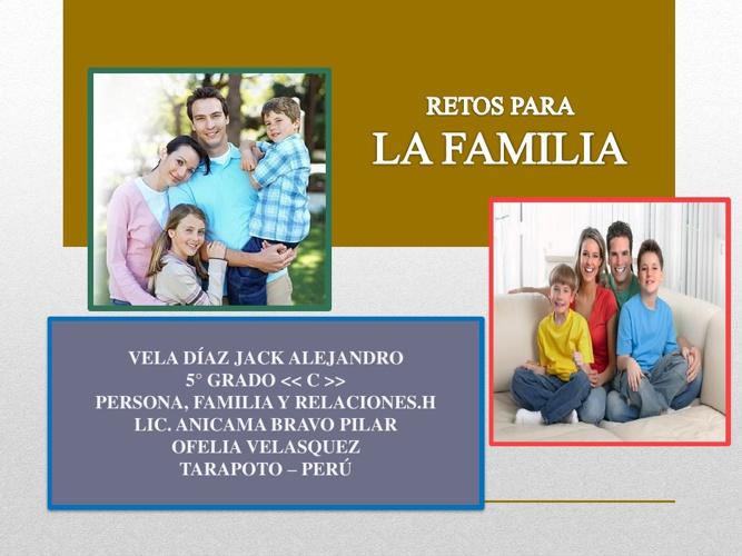 RETOS PARA MI FAMILIA