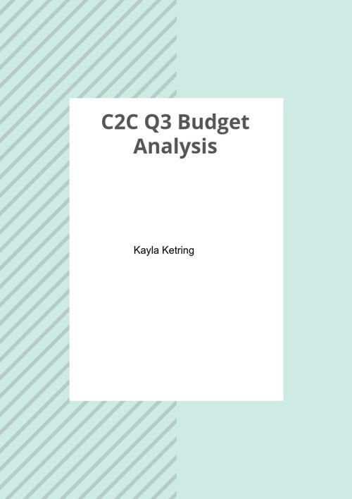 C2C Budget Analysis (Q3)