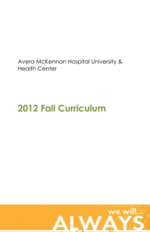 2012 Fall Curriculum