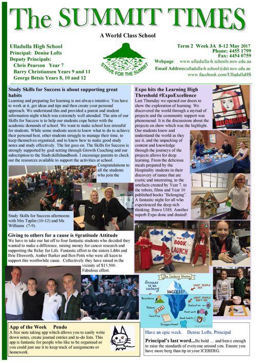T2 Wk3A Summit Times 2017