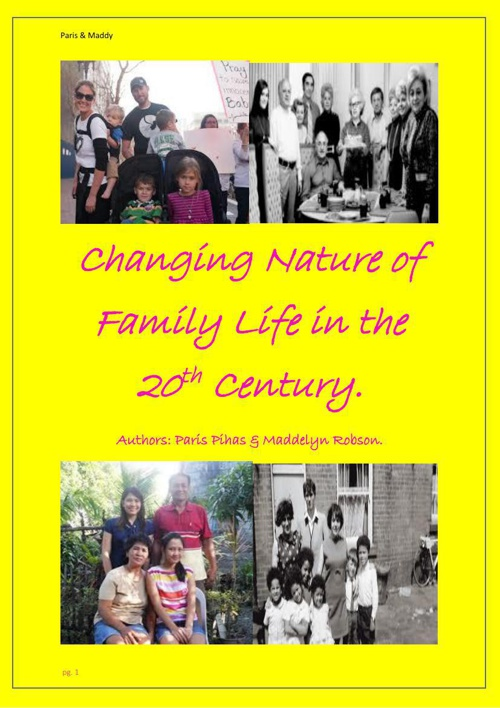 The Changing Nature of Family Life