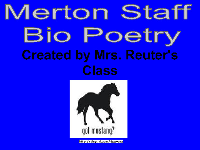Merton Staff Bio Poetry