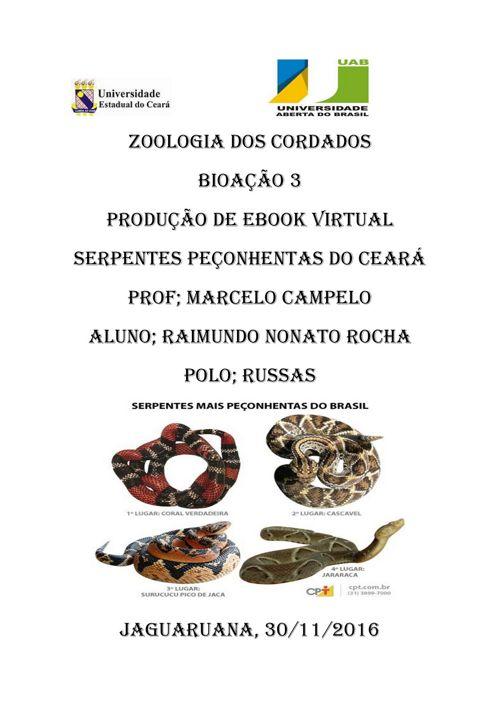 Serpentes Do Ceará