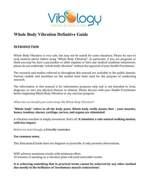 VIBOLOGY WBV-Definitive-Guide