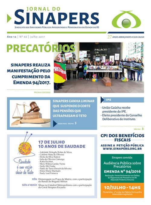 Copy of SINAPERS - Nº65 - 2017