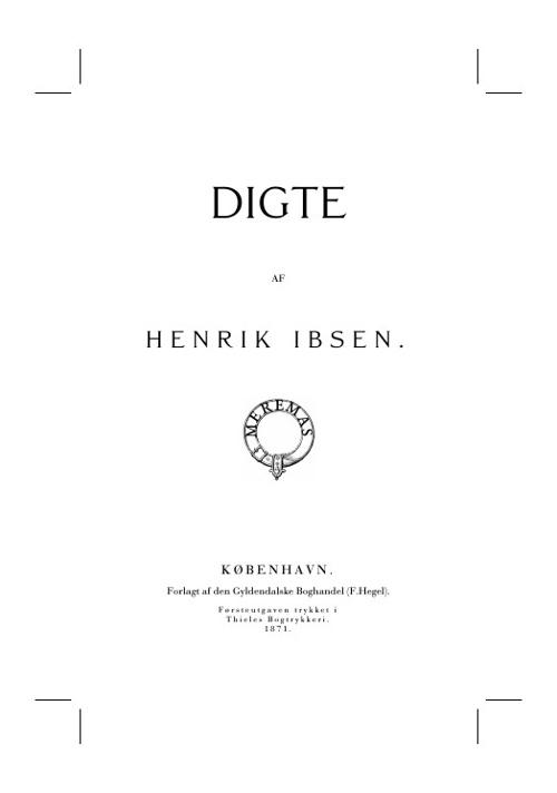 Digte af Henrik Ibsen