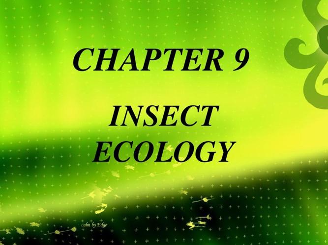 ENTOMOLOGY: Chapter 9